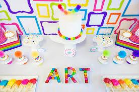 Art Party Birthday Party Ideas
