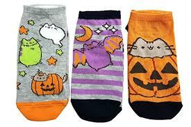 Girls Ladies Pusheen Halloween Socks 3 Pair Socks Size Uk 4 8 Eur