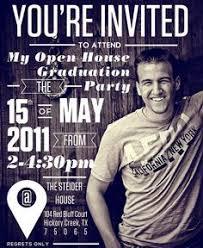 graduation open house invitation graduation open house invites dhavalthakur