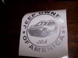jeep wave stickers jeep owners of america members vinyl decal sticker kl cherokee