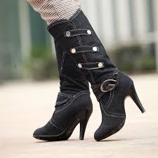 womens denim boots uk plus size 2017 denim boots cowboy boots for