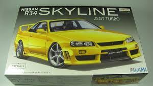 nissan r34 skyline 25gt turbo fujimi car model kit com