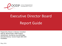 oodp executive director board report guide sage