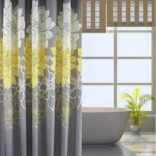 sfoothome gray background and flower pattern mildew proof and