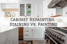 paint vs stain kitchen cabinets cabinet repainting beaverton staining vs painting maller
