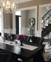 glamorous dining rooms black and white glamour dining room welcome home pinterest