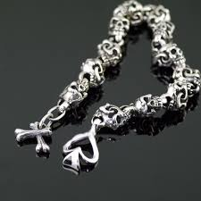 solid sterling silver bracelet images Japan gothic jewelry solid thick and heavy 925 sterling silver jpg