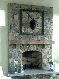 building a natural stone outdoor fireplace diy mantels stacked