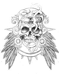 unique skull tattoo design