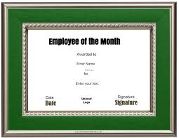 Free Printable Halloween Certificates by Free Custom Employee Of The Month Certificate