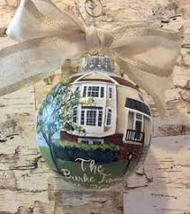 new home painting on ornament custom house portrait ornament
