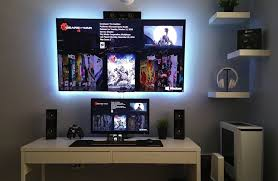 Logitech C920 Wall Mount Beautiful B U0026w Desktop Setup Pinterest Gaming Setup Gaming