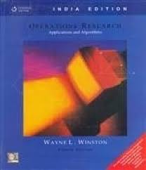 operations research applications and algorithms with cd 4th