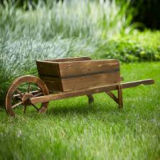 essential garden wood wheel barrow planter limited availability