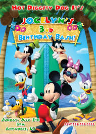 mickey mouse clubhouse birthday invites mickey and pals pool party birthday invitations 8 99 disney