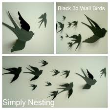 apartment cool 3d wall murals to get fresh home nuance apartment reversible cool black paper 3d birds wall mural decor whimsical nursery wall art baby