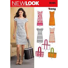 shift pattern en español newlook 6095 kleid a 10 22 36 48 sewing ideas