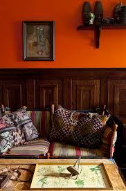 orange walls stained wainscoting paint it orange pinterest