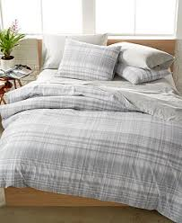 Plaid Bedding Set Closeout Calvin Klein Washed Essentials Faded Plaid Comforter