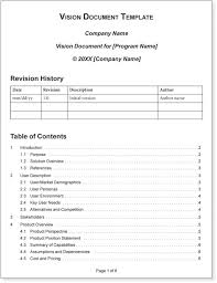 appendix b vision document template agile software requirements