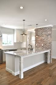 Kitchen Base Cabinets With Legs Open Brakfast Bar With Furniture Base Legs And Custom Brick