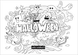 coloriage halloween à télécharger