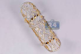 long rings jewelry images Womens diamond long double ring 18k yellow gold 2 64 ct jpg