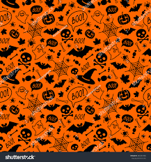 halloween spider background halloween orange festive seamless pattern endless stock vector