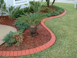 landscaping with bricks soldier course brick front yard landscaping