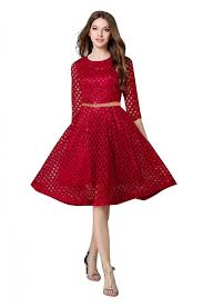 dress photo western wear dress in maroon colour