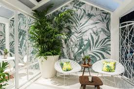 plant room contemporary wallpaper wall u0026 decò