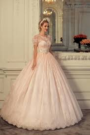 blush wedding dress with sleeves blush dress with sleeves hairstyle foк