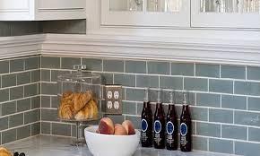kitchen backsplash ideas on a budget blue gray subway tile