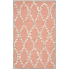 frontier coral gray tribal pattern rug