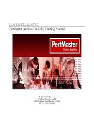 pertmaster risk expert training manual framing construction