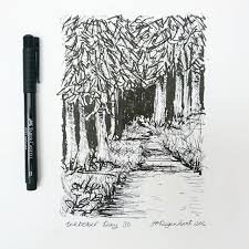 inktober day 30 brush pen and fountain pen very quick sketch of a