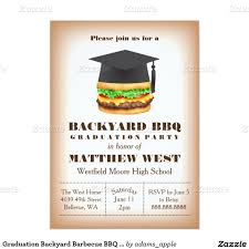 Home Invitation Cards Graduation Backyard Barbecue Bbq Party Cookout 5x7 Paper