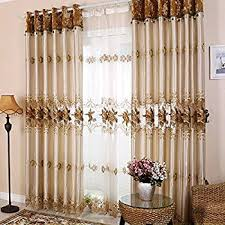 Drapes For Living Room Windows Amazon Com Shunshan Luxury Window Curtains For Living Room Set Of