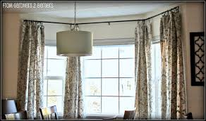 how to bay windows curtain rods drapery rings window traverse