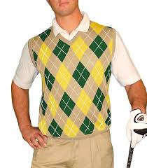 sweater vest argyle golf sweater vest khaki green yellow mens