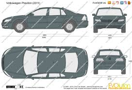 volkswagen phaeton 2014 the blueprints com vector drawing volkswagen phaeton