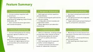 contract summary template 8 feature summary addressing contract
