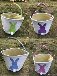 easter buckets bunny ear easter buckets gifts bag cotton canvas material easter