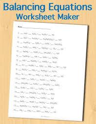 balancing chemical reactions worksheet answers worksheets