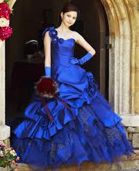 blue wedding dress royal blue bridal gown wedding dress