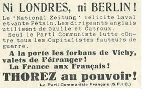 si e parti communiste le parti communiste français 1939 1941 le parti communiste condamne