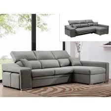assise canape canapé d angle en tissu lusali avec assise coulissante gris clair