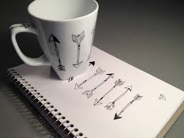 diy mug design using sharpie and baking in oven arrow designs