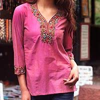 women u0027s indian embroidered tunics tops at novica