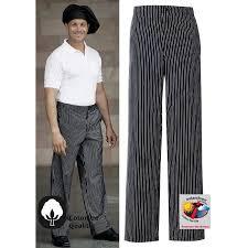 pantalon cuisine noir pantalon de cuisine rayures noir blanc 1 poche arrière